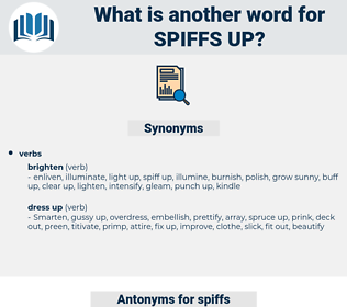 spiffs up, synonym spiffs up, another word for spiffs up, words like spiffs up, thesaurus spiffs up