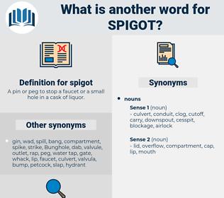 spigot, synonym spigot, another word for spigot, words like spigot, thesaurus spigot