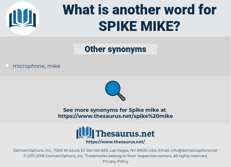 spike mike, synonym spike mike, another word for spike mike, words like spike mike, thesaurus spike mike