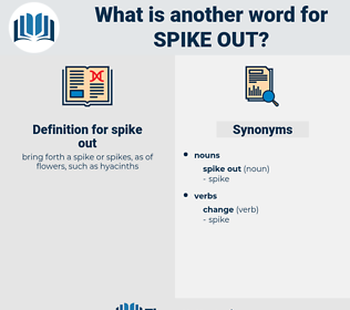 spike out, synonym spike out, another word for spike out, words like spike out, thesaurus spike out