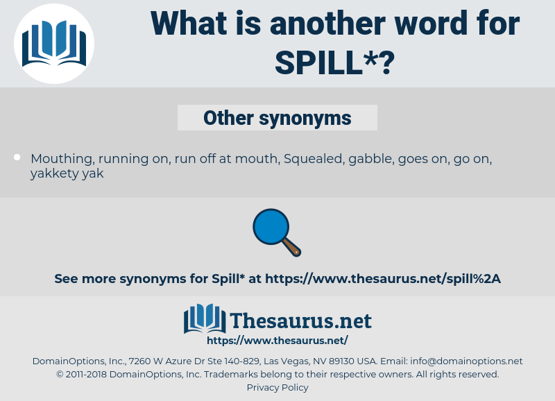 spill, synonym spill, another word for spill, words like spill, thesaurus spill