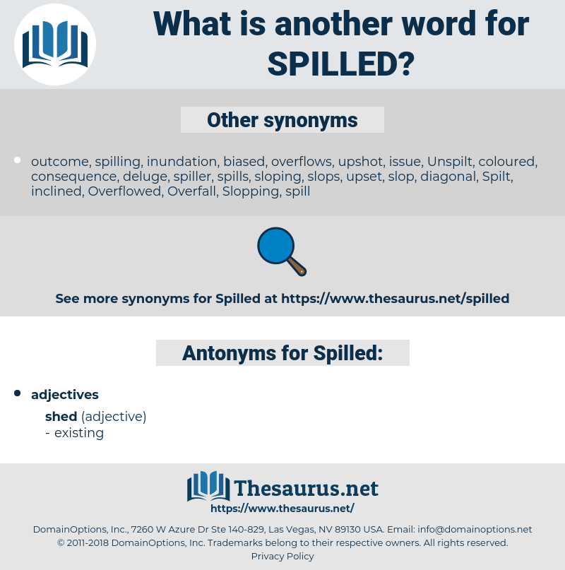 Spilled, synonym Spilled, another word for Spilled, words like Spilled, thesaurus Spilled