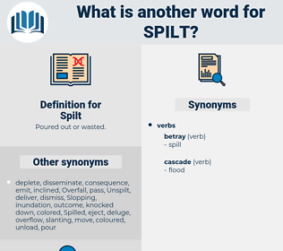 Spilt, synonym Spilt, another word for Spilt, words like Spilt, thesaurus Spilt