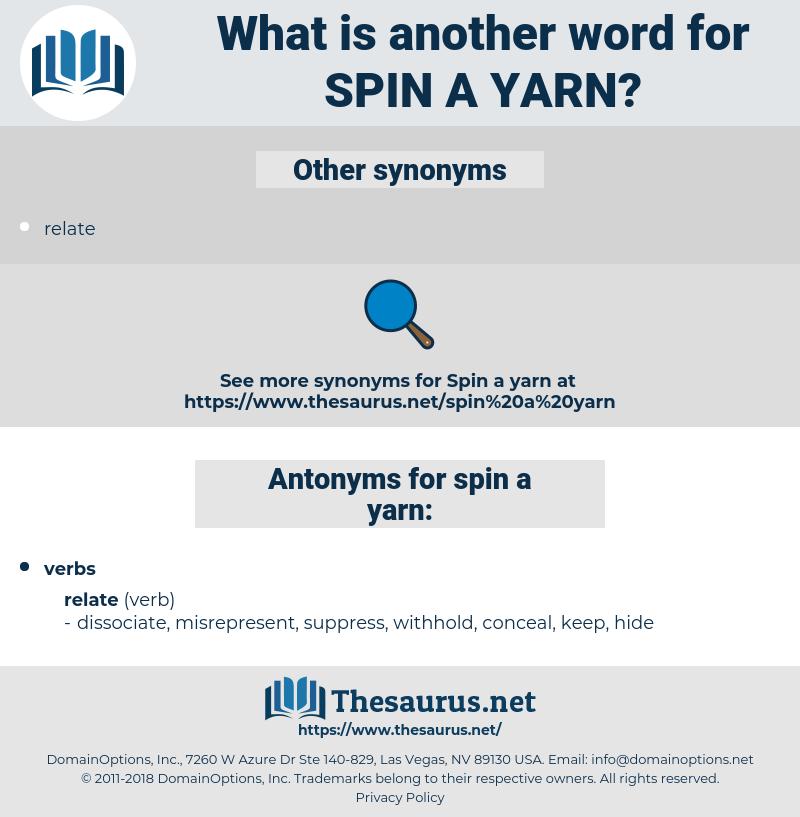 spin a yarn, synonym spin a yarn, another word for spin a yarn, words like spin a yarn, thesaurus spin a yarn