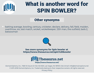 spin bowler, synonym spin bowler, another word for spin bowler, words like spin bowler, thesaurus spin bowler