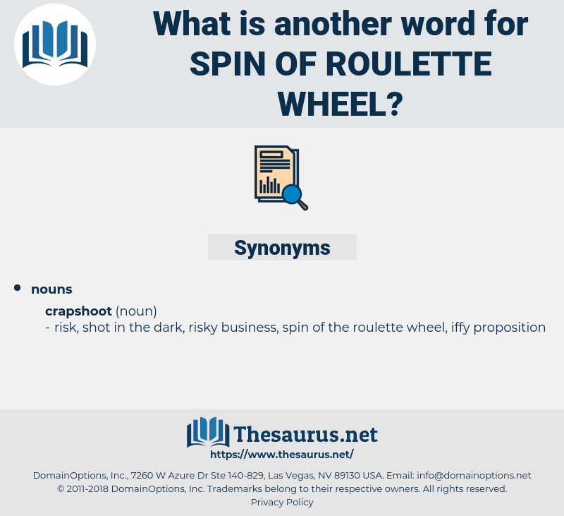 spin of roulette wheel, synonym spin of roulette wheel, another word for spin of roulette wheel, words like spin of roulette wheel, thesaurus spin of roulette wheel