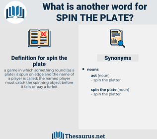 spin the plate, synonym spin the plate, another word for spin the plate, words like spin the plate, thesaurus spin the plate