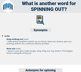 spinning out, synonym spinning out, another word for spinning out, words like spinning out, thesaurus spinning out