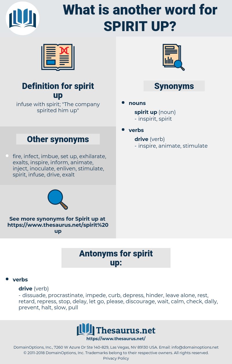 spirit up, synonym spirit up, another word for spirit up, words like spirit up, thesaurus spirit up