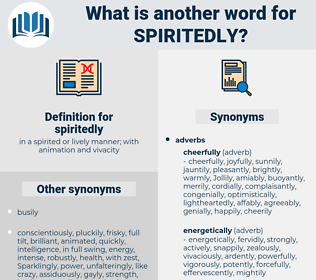 spiritedly, synonym spiritedly, another word for spiritedly, words like spiritedly, thesaurus spiritedly