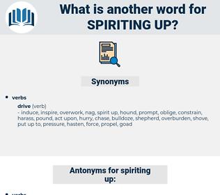 spiriting up, synonym spiriting up, another word for spiriting up, words like spiriting up, thesaurus spiriting up