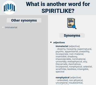 spiritlike, synonym spiritlike, another word for spiritlike, words like spiritlike, thesaurus spiritlike