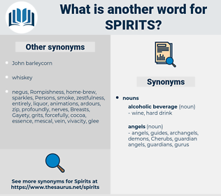 spirits, synonym spirits, another word for spirits, words like spirits, thesaurus spirits