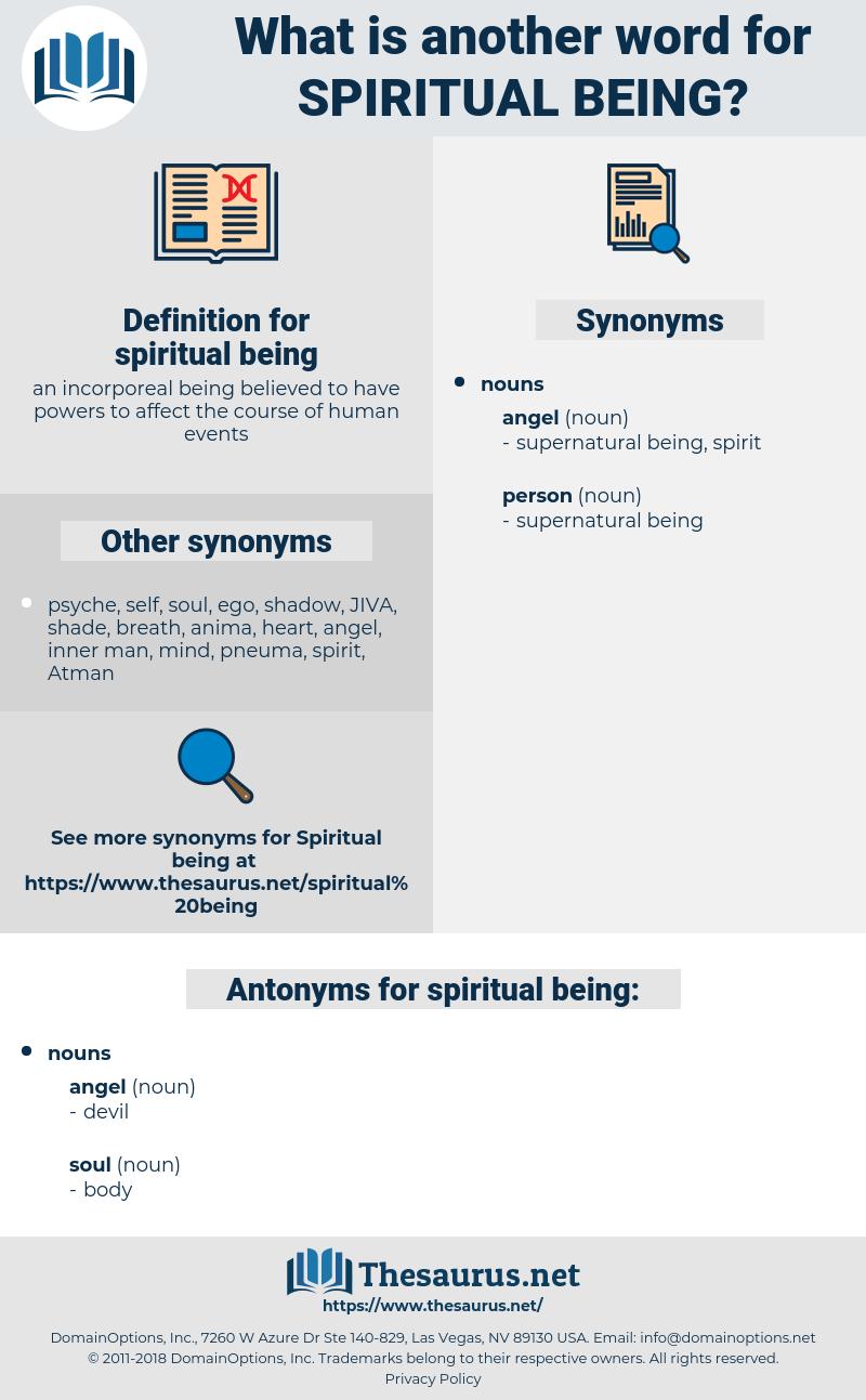 spiritual being, synonym spiritual being, another word for spiritual being, words like spiritual being, thesaurus spiritual being