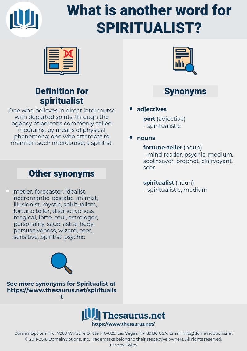spiritualist, synonym spiritualist, another word for spiritualist, words like spiritualist, thesaurus spiritualist