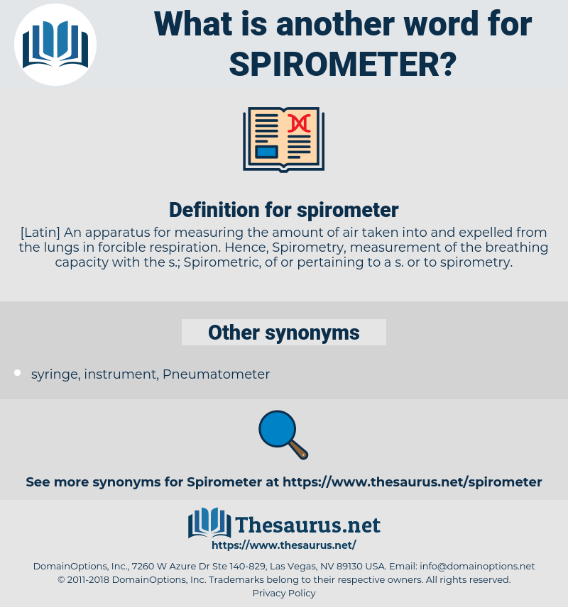 spirometer, synonym spirometer, another word for spirometer, words like spirometer, thesaurus spirometer