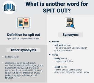 spit out, synonym spit out, another word for spit out, words like spit out, thesaurus spit out