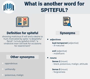 spiteful, synonym spiteful, another word for spiteful, words like spiteful, thesaurus spiteful