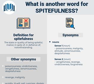 spitefulness, synonym spitefulness, another word for spitefulness, words like spitefulness, thesaurus spitefulness