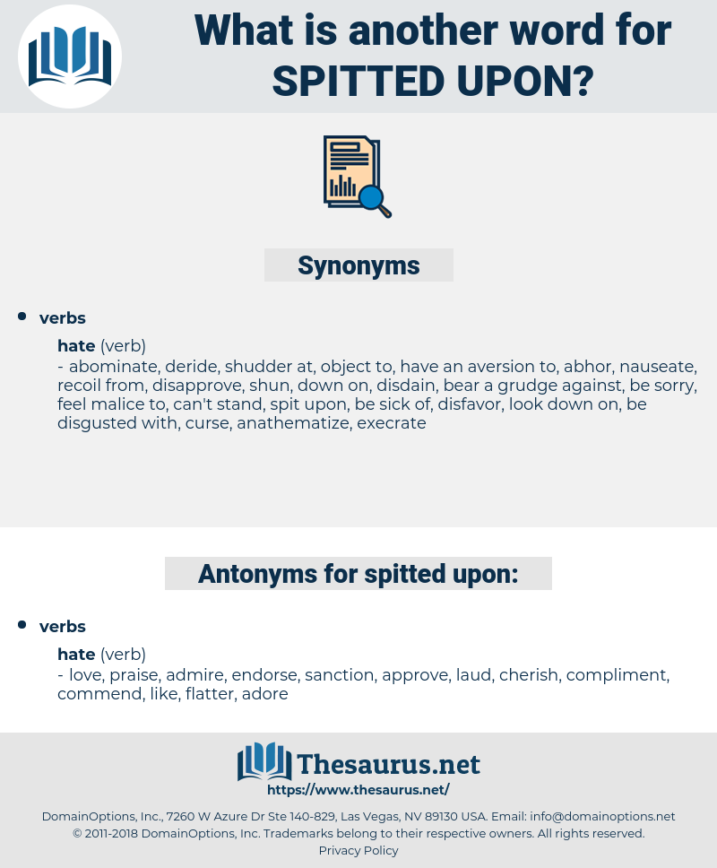spitted upon, synonym spitted upon, another word for spitted upon, words like spitted upon, thesaurus spitted upon