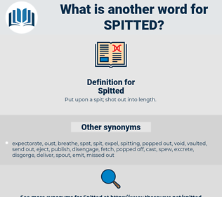 Spitted, synonym Spitted, another word for Spitted, words like Spitted, thesaurus Spitted