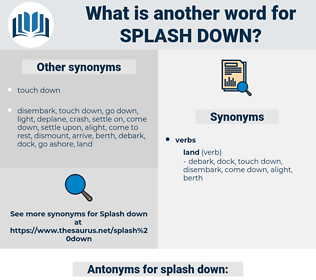 splash down, synonym splash down, another word for splash down, words like splash down, thesaurus splash down