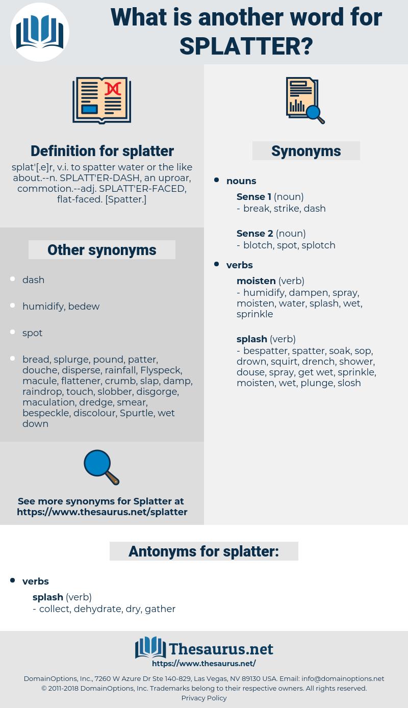 splatter, synonym splatter, another word for splatter, words like splatter, thesaurus splatter