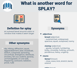 splay, synonym splay, another word for splay, words like splay, thesaurus splay