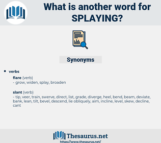 splaying, synonym splaying, another word for splaying, words like splaying, thesaurus splaying