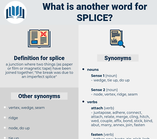splice, synonym splice, another word for splice, words like splice, thesaurus splice