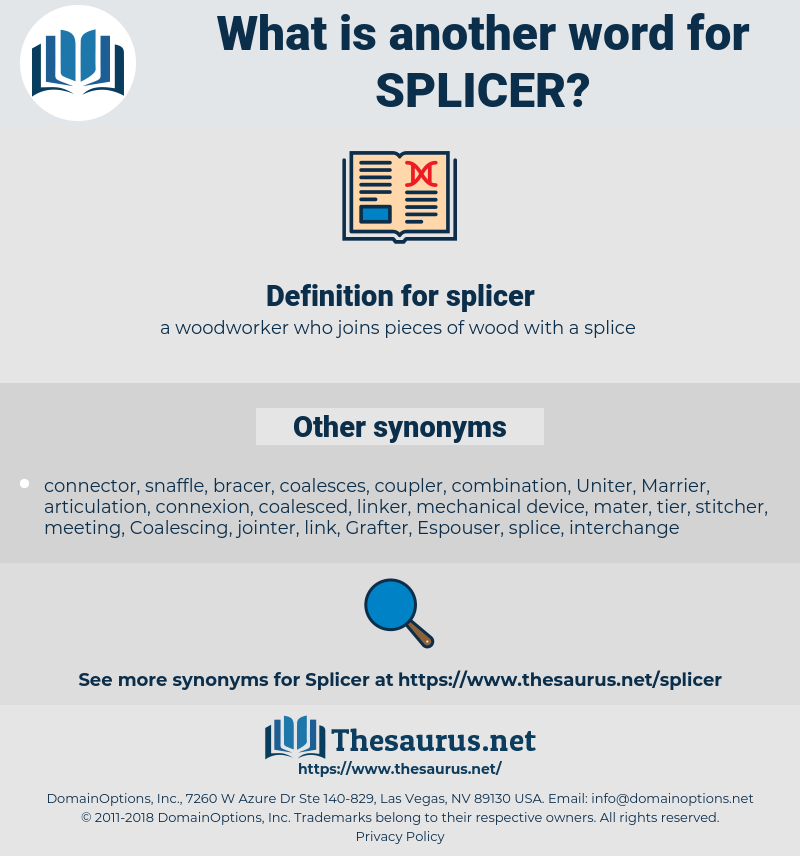 splicer, synonym splicer, another word for splicer, words like splicer, thesaurus splicer