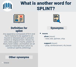 splint, synonym splint, another word for splint, words like splint, thesaurus splint