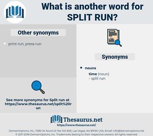 split run, synonym split run, another word for split run, words like split run, thesaurus split run