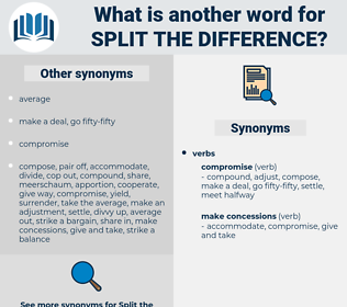 split the difference, synonym split the difference, another word for split the difference, words like split the difference, thesaurus split the difference