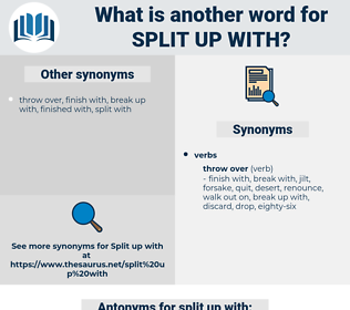 split up with, synonym split up with, another word for split up with, words like split up with, thesaurus split up with