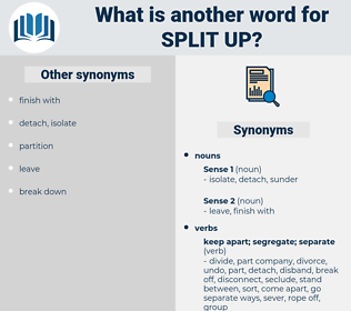 split up, synonym split up, another word for split up, words like split up, thesaurus split up