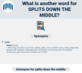 splits down the middle, synonym splits down the middle, another word for splits down the middle, words like splits down the middle, thesaurus splits down the middle