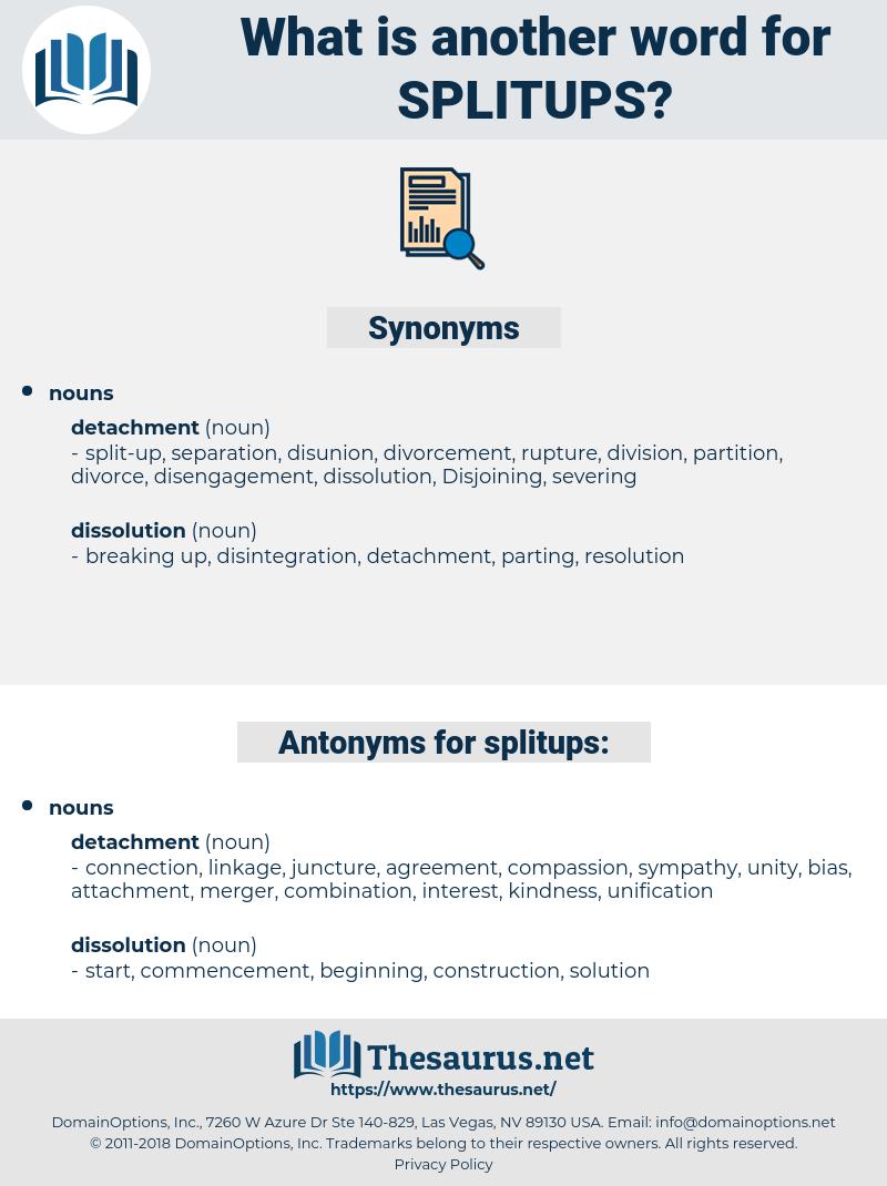 splitups, synonym splitups, another word for splitups, words like splitups, thesaurus splitups
