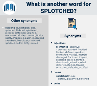 splotched, synonym splotched, another word for splotched, words like splotched, thesaurus splotched