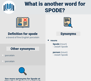 spode, synonym spode, another word for spode, words like spode, thesaurus spode