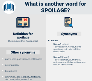 spoilage, synonym spoilage, another word for spoilage, words like spoilage, thesaurus spoilage