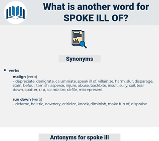spoke ill of, synonym spoke ill of, another word for spoke ill of, words like spoke ill of, thesaurus spoke ill of