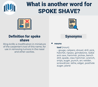 spoke shave, synonym spoke shave, another word for spoke shave, words like spoke shave, thesaurus spoke shave
