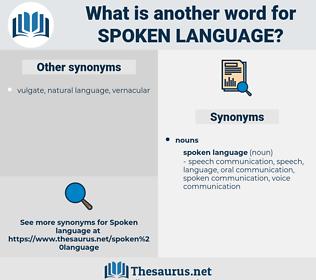 spoken language, synonym spoken language, another word for spoken language, words like spoken language, thesaurus spoken language