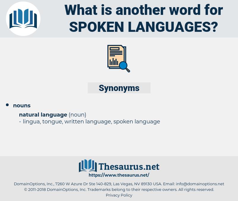 spoken languages, synonym spoken languages, another word for spoken languages, words like spoken languages, thesaurus spoken languages