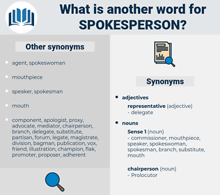 spokesperson, synonym spokesperson, another word for spokesperson, words like spokesperson, thesaurus spokesperson