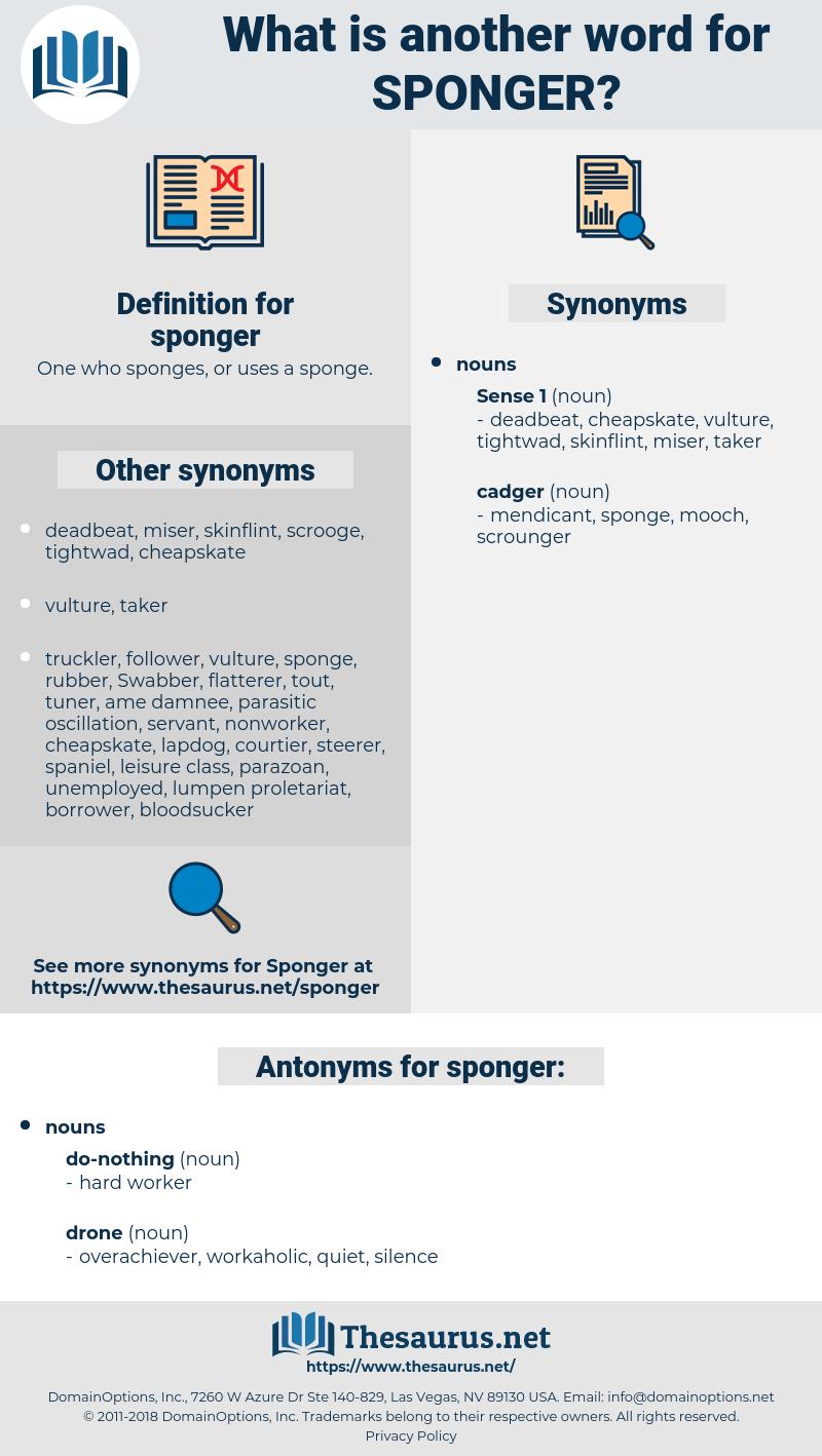 sponger, synonym sponger, another word for sponger, words like sponger, thesaurus sponger