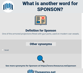 Sponson, synonym Sponson, another word for Sponson, words like Sponson, thesaurus Sponson
