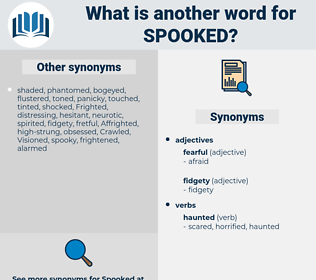 spooked, synonym spooked, another word for spooked, words like spooked, thesaurus spooked