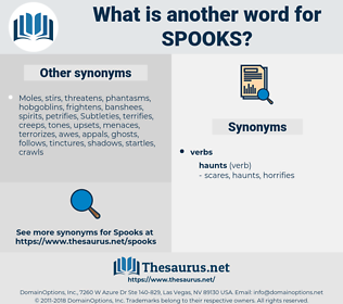 spooks, synonym spooks, another word for spooks, words like spooks, thesaurus spooks